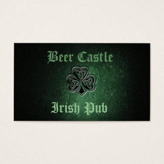 Professional classy grunge Irish lucky shamrock Business Card