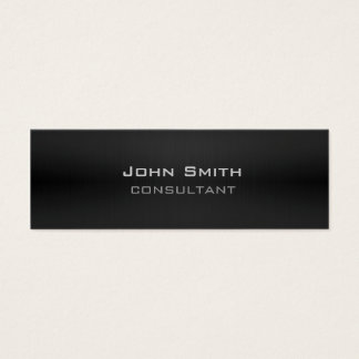 Professional classy modern plain black mini business card
