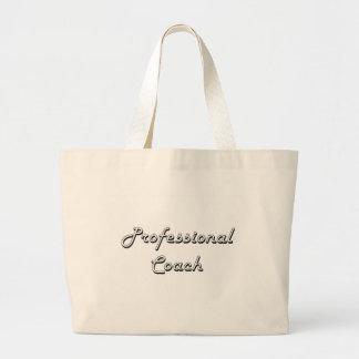 Professional Coach Classic Job Design Jumbo Tote Bag