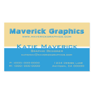 Professional Color Duos Business Card