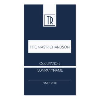 Professional company business card Dark blue