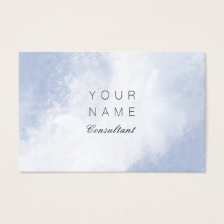 Professional Consultant Abstract Brush Stroke Business Card