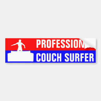 Professional Couch Surfer Bumper Sticker