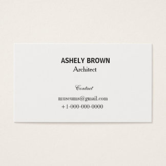 Professional Cream White Business Card