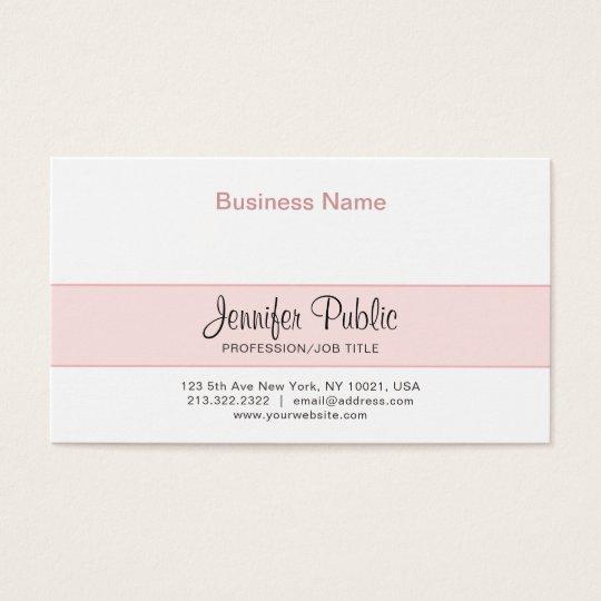 Professional Creative Design Elegant Pink Modern Business Card