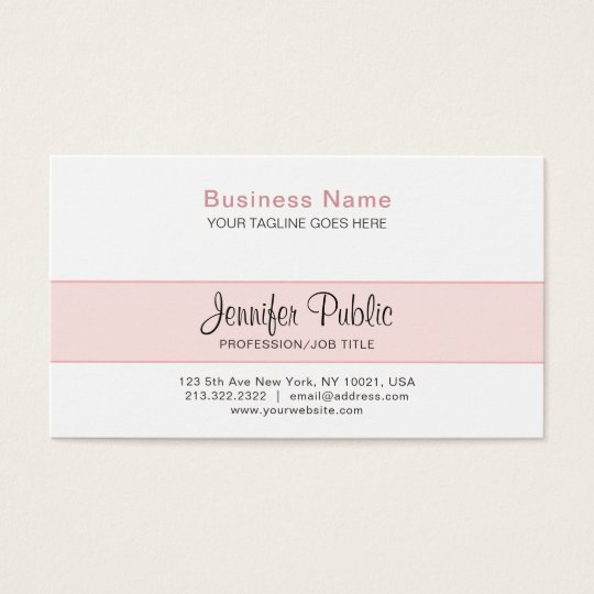 Professional Creative Design Elegant Pink Modern Business Card