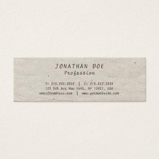 Professional Creative Vintage Historical Used Look Mini Business Card