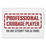 Professional Cribbage Player Greeting Cards
