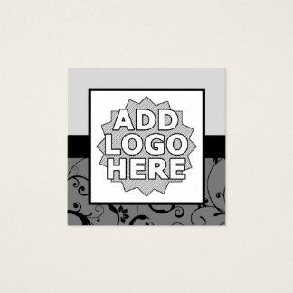 professional damask add your own logo square business card