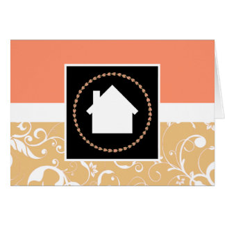 professional damask home greeting cards