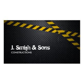 Professional Dark Metal Construction Business Card