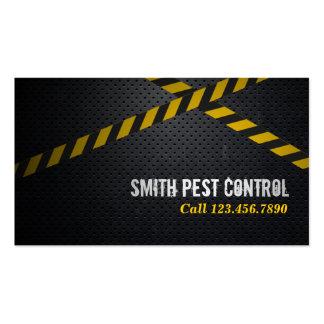 Professional Dark Metal Pest Control Business Card