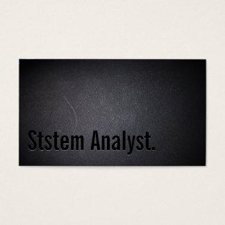Professional Dark System Analyst Business Card