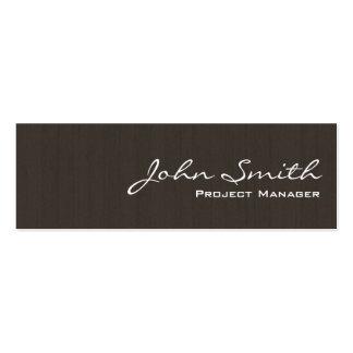 Professional Dark Wood Mini Business Card