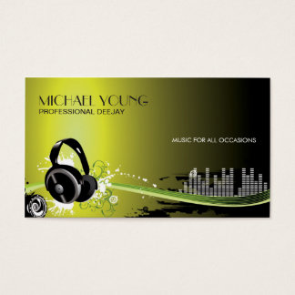 Professional DeeJay Music Business Cards