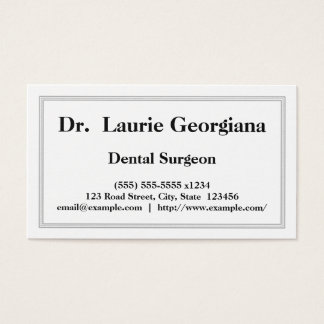 Professional Dental Surgeon Business Card
