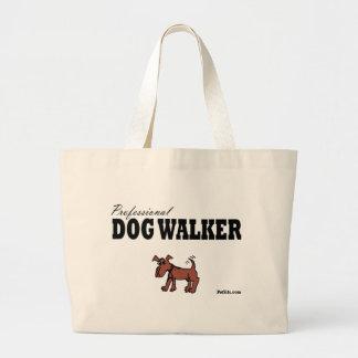 Professional Dog Walker Jumbo Tote Bag
