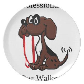 Professional Dog Walker Plate