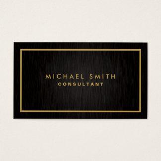 Professional Elegant Black Plain Modern Metal Business Card