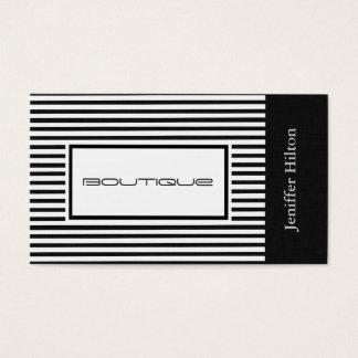 Professional elegant black white stripes linen