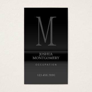 Professional elegant business card design Black