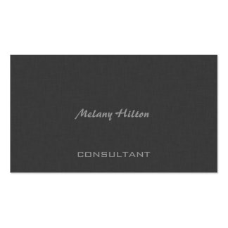 Professional Elegant chic contemporary grey linen Pack Of Standard Business Cards