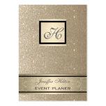 Professional elegant chic luxury glittery monogram pack of chubby business cards