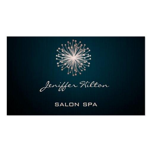 Professional elegant chic texture dandelion business card