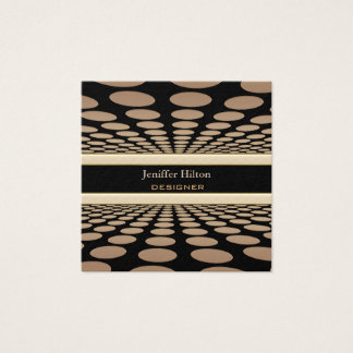 Professional elegant contemporary abstract doted square business card