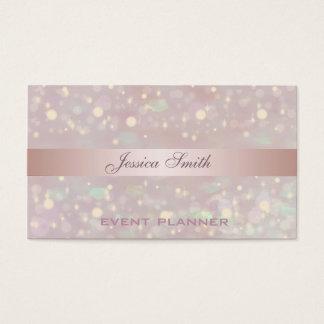 Professional elegant contemporary glitter bokeh business card