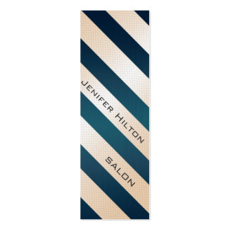 Professional elegant gentle modern shiny stripes Double-Sided mini business cards (Pack of 20)