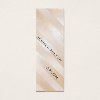 Professional elegant gentle modern shiny stripes mini business card
