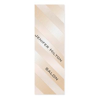 Professional elegant gentle modern shiny stripes pack of skinny business cards