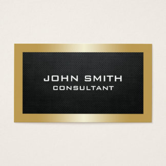 Professional Elegant Gold Modern Plain Metal Black Business Card