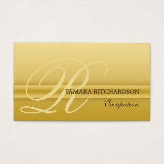 Professional elegant luxury business card Gold