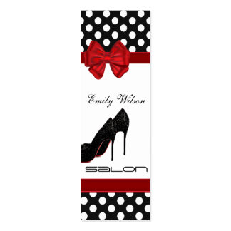 Professional elegant luxury chic polka dots heels business card