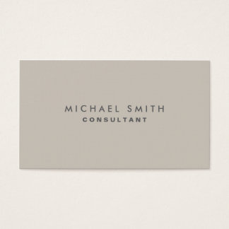 Professional Elegant Modern Beige Plain Simple Business Card