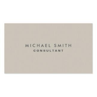 Professional Elegant Modern Beige Plain Simple Pack Of Standard Business Cards