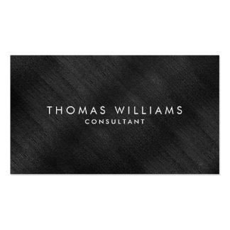 Professional Elegant Modern Black Brushed Metal Pack Of Standard Business Cards