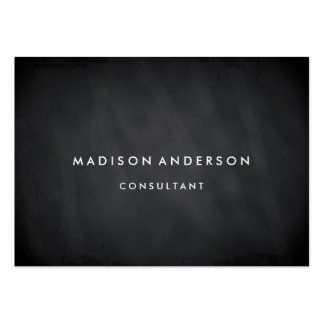 Professional Elegant Modern Black Chalk Board Pack Of Chubby Business Cards