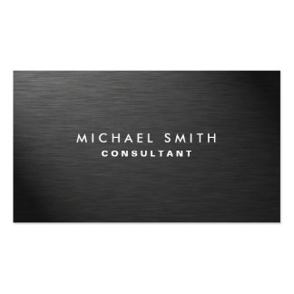 Professional Elegant Modern Black Plain Metal Pack Of Standard Business Cards