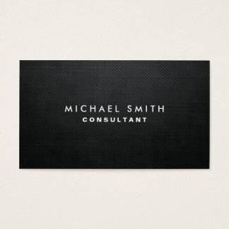 Professional Elegant Modern Black Plain Simple Business Card