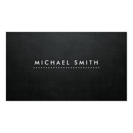 Professional Elegant Modern Black Plain Simple Business Card Template