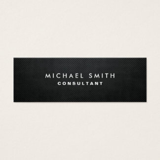 Professional Elegant Modern Black Plain Simple Mini Business Card