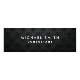 Professional Elegant Modern Black Plain Simple Pack Of Skinny Business Cards