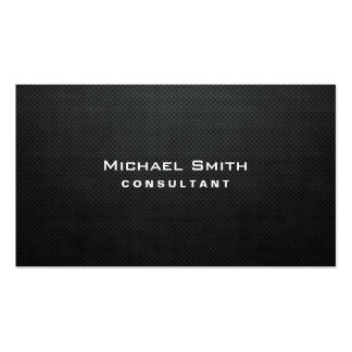 Professional Elegant Modern Black Plain Simple Pack Of Standard Business Cards