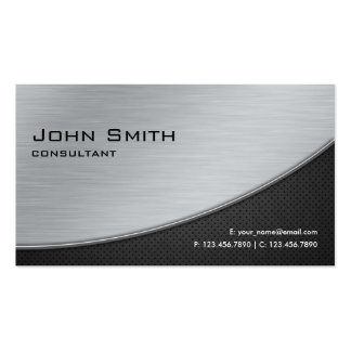 Professional Elegant Modern Computer Repair Silver Business Cards