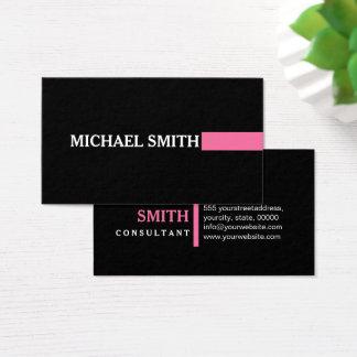 Professional Elegant Modern Cyclamen Plain Black Business Card