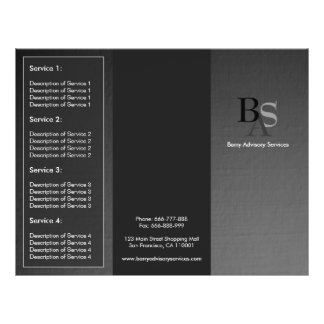 Professional Elegant Modern Grey Black Brochure 21.5 Cm X 28 Cm Flyer