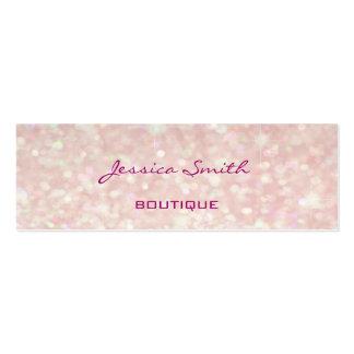 Professional elegant modern luxury glitter bokeh pack of skinny business cards